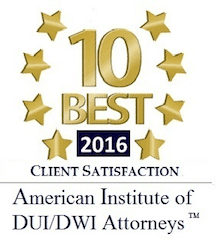 10 Best RI DUI Lawyer Award 2016 Chad Bank