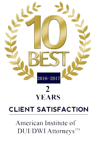 5 Year - 10 Best RI DUI Lawyer Award 2016 - 2017 - 2018 - 2019 - 2020 Chad Bank